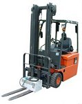 Finance repossessed used nissan 3 wheel fork lift truck, sold by forklift & access sales